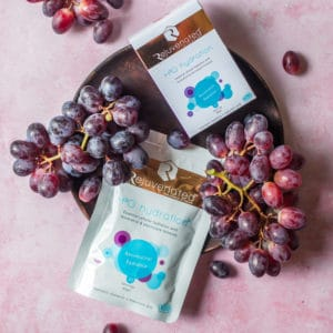 H3O hydration for skin hydration with grapeseed extract