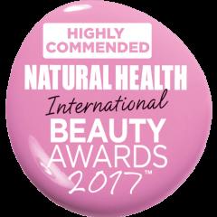 Highly Commended Award Natural Health International Awards 2017