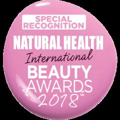Special Recognition Award Natural Health International Awards 2018