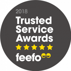 2018 Feefo Trusted Service Awards FEEFO