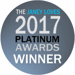 The Janey Loves 2017 Platinum Awards Winner